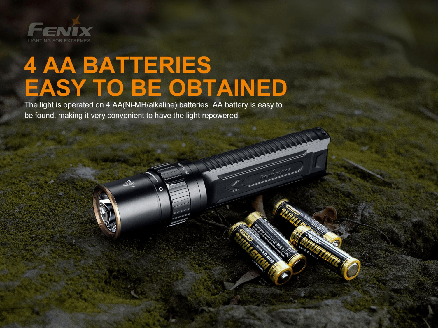 Fenix LD42 LED Torch, 1000 Lumens Powerful Compact Flat Body grip Torch light, Everyday Carry work Flashlight for Inspection Searchlight Outdoors Camping Hiking Light