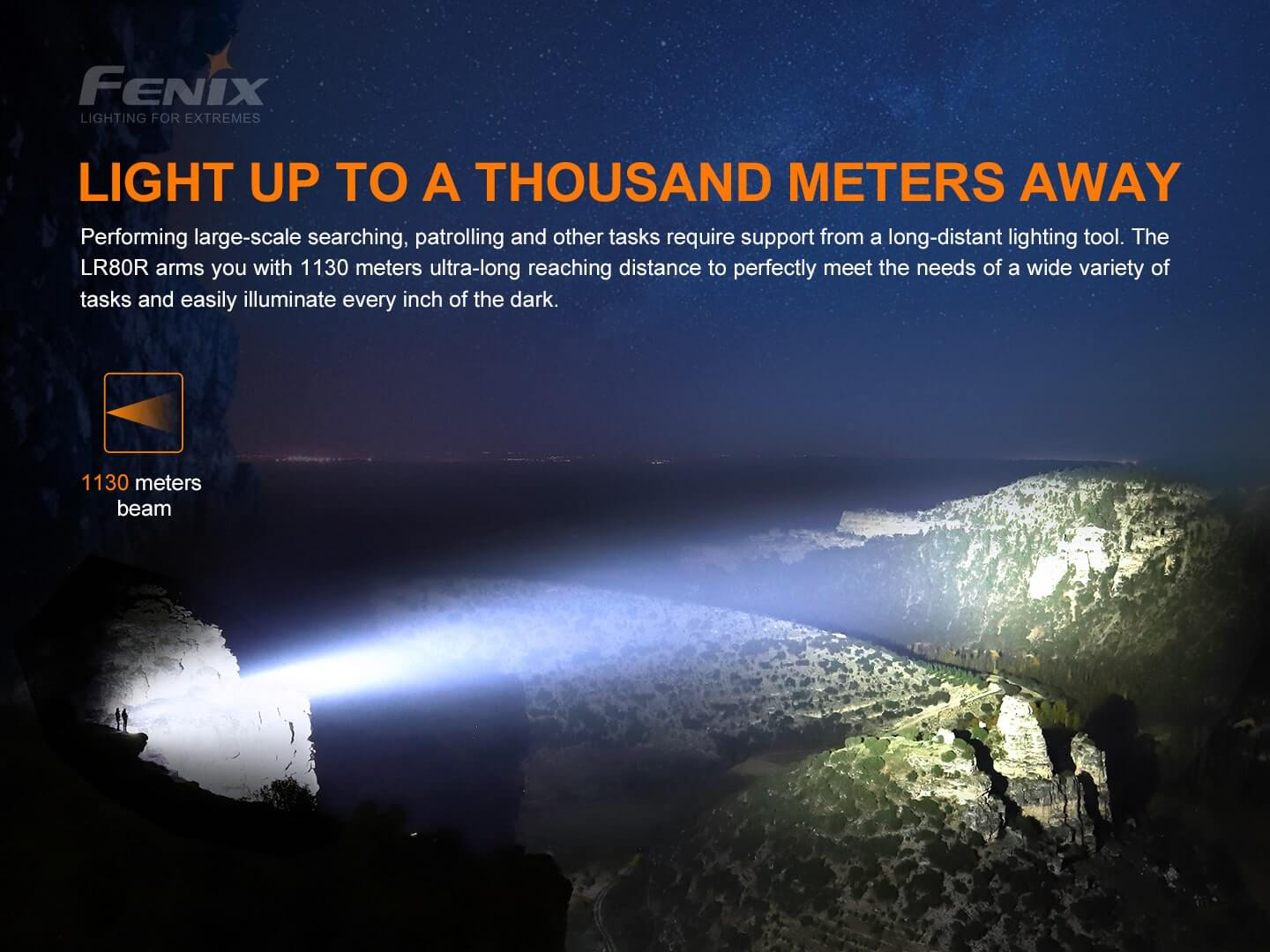 Fenix LR80R LED Searchlight in India, Extremely Powerful Rechargeable Torch 18000 Lumens, Best Searchlight for Search & Rescue and Outdoors