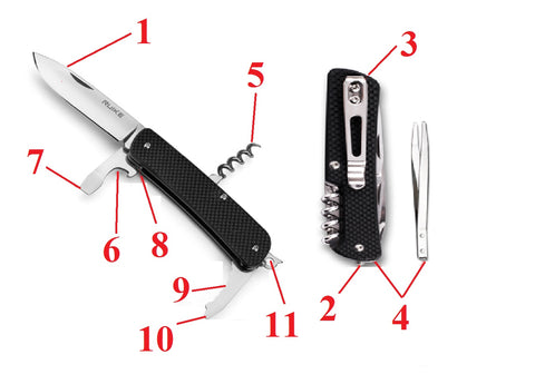 Ruike M21 Multi-Function Pocket Knife | 11 Functions Buy Online