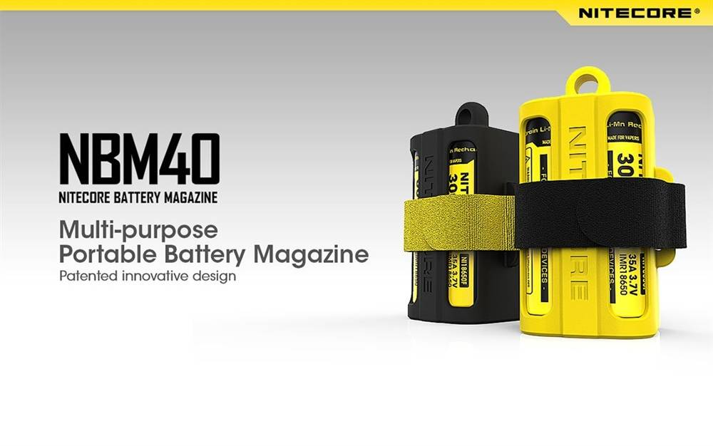 Nitecore NBM40 Multi-Purpose Portable Battery Magazine Organiser, Storage for Lithium Ion Batteries, Compact, Lightweight battery Holder