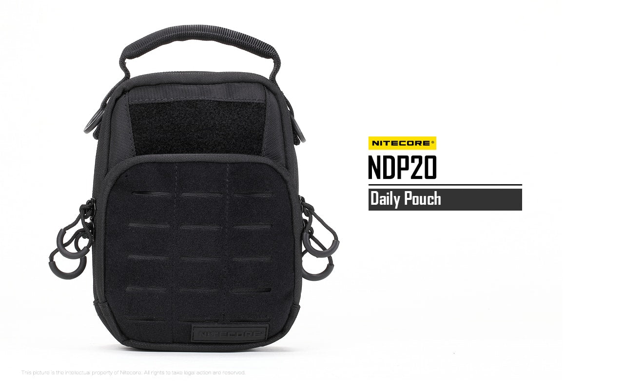 Nitecore NDP10, Nitecore NDP20, Tactical Storage Bag for Flashlights, Batteries, Charger and other Equipments, Everyday Carry Lightweight Storage Outdoor Pouch