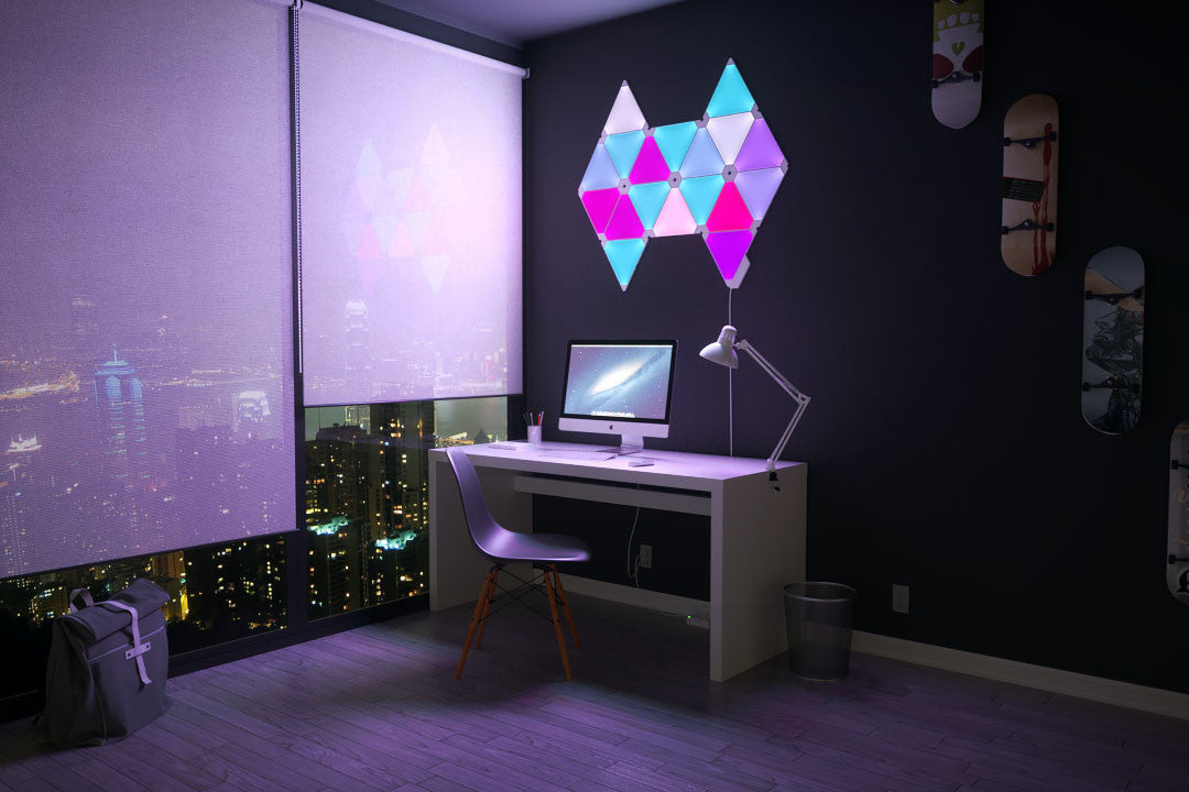 Nanoleaf Aurora India, It's the light for you- Color it, Now in India, Nanoleaf Aurora, Aurora, Revolutionary mood lights, Mood lighting, color lights, light panels, Play with colors, Make walls your canvas, Lighting creativity, Design your living space with various lights