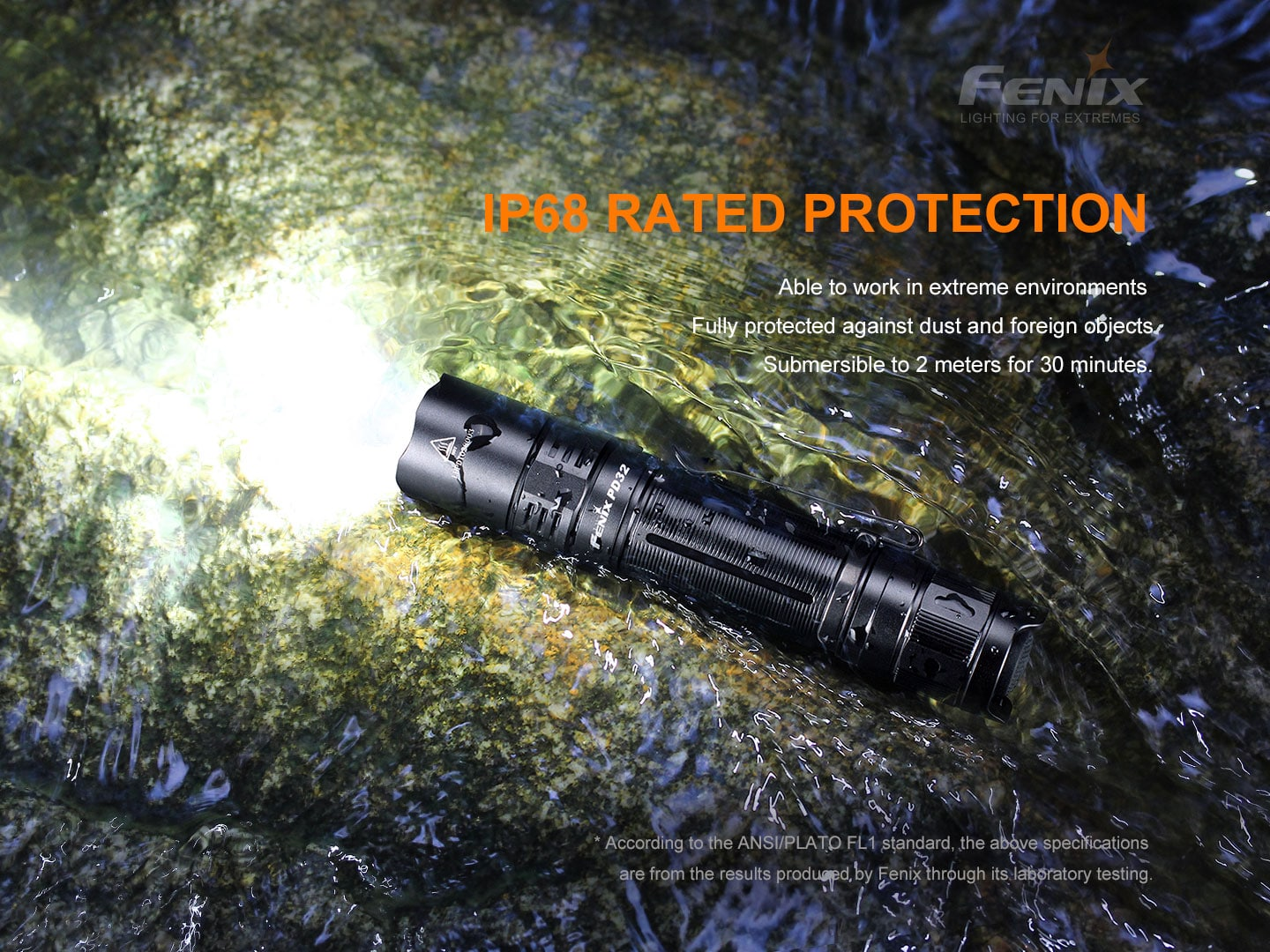 Fenix PD32 V2.0 LED Torch, Powerful compact EDC Light, Long Distance Compact High performance Flashlight, Perfect for Outdoor LED Flashlight