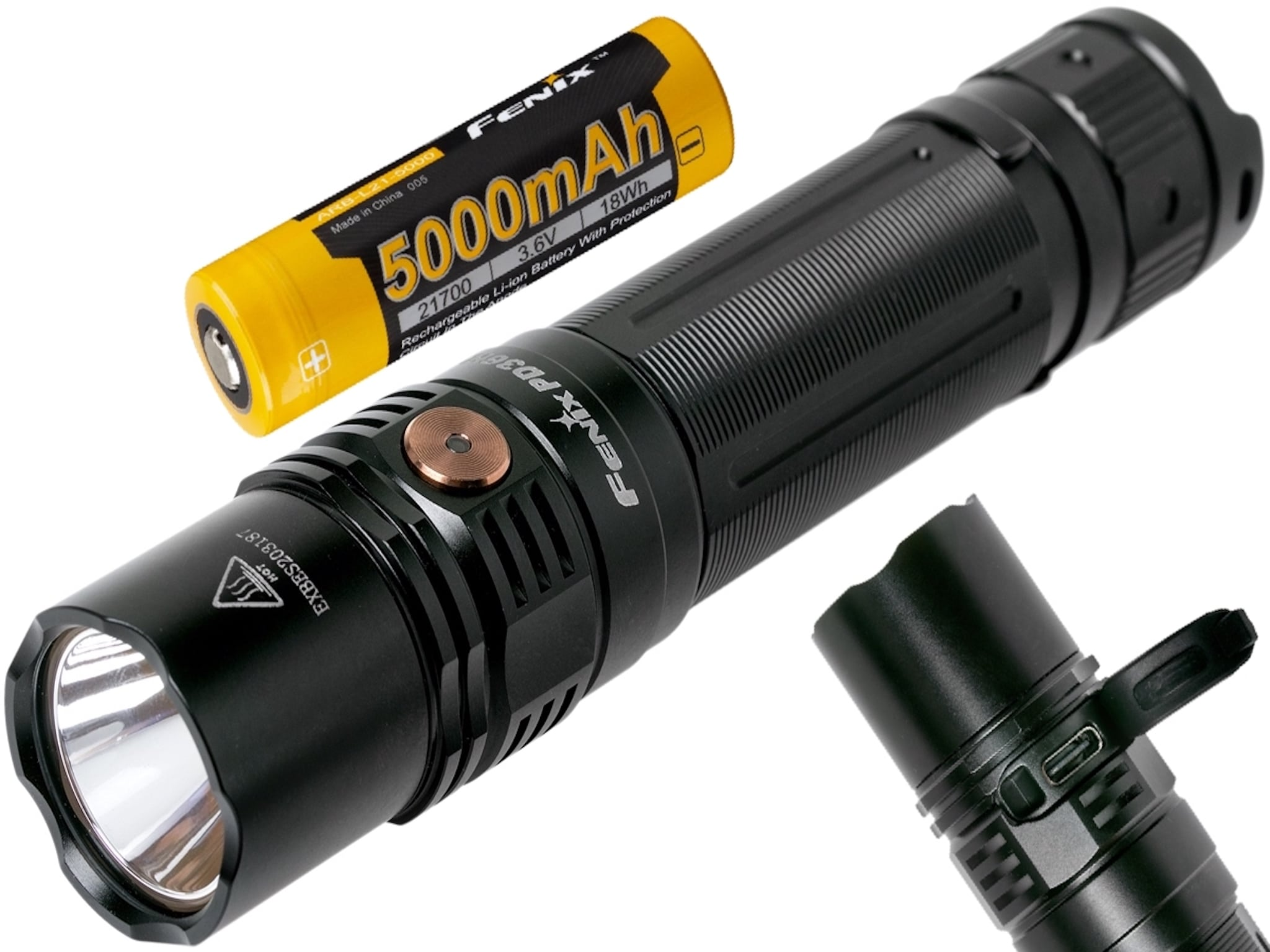 Fenix PD36R LED Flashlight, USB C Type Rechargeable Long Duration LED Torch, Extremely Powerful Tactical Flashlight in India, PD36R Review