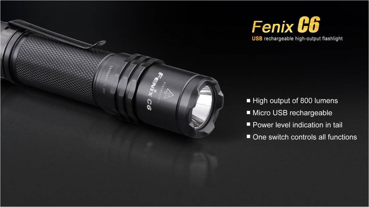 Fenix C6 LED Flashlight, Buy LED Torch online in India, Powerful Torch