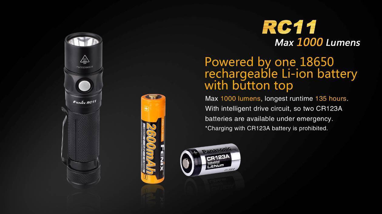 Fenix RC11 Magnetic Flashlight Rechargeable Torch, Buy Online in India
