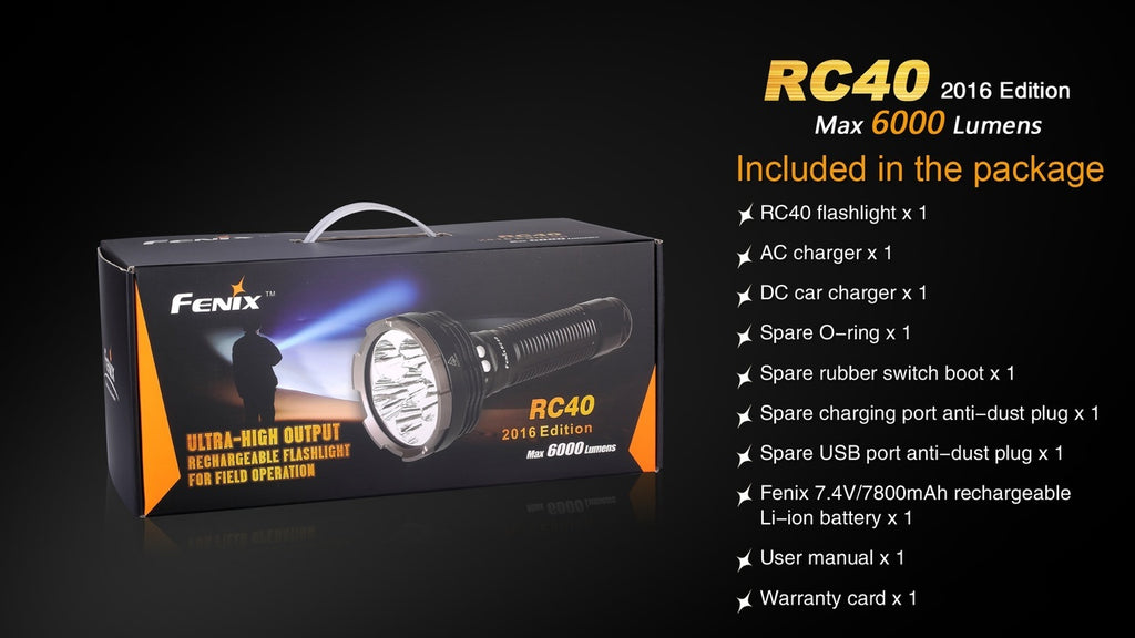 Buy Fenix RC40 LED Searchlight, Most Powerful Searchlight in India, Buy Powerful Long Distance Searchlights in India of LightMen on www.ledflashlights.in
