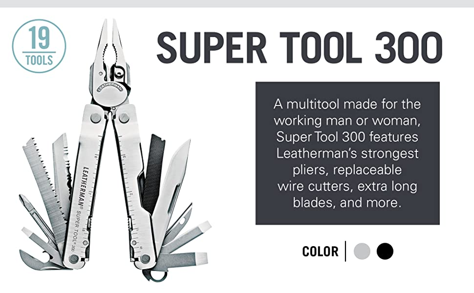 Buy Leatherman Multi Tools online in India @ LightMen, Buy Leatherman Supertool 300 Multi-Tool online in India, Heavy Duty EDC Multi-Tool for work & duty, Tools Wire stripper, Pliers, Screwdriver, Ruler, Wire cutter, Knife Serrated & Straight, Electrical Crimper and Bottle can opener