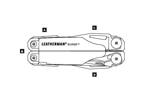 Leatherman Surge, Leatherman multi-tools in India, Surge, Heavy Duty Multiple tools in One, Knife, Pliers, Screwdrivers