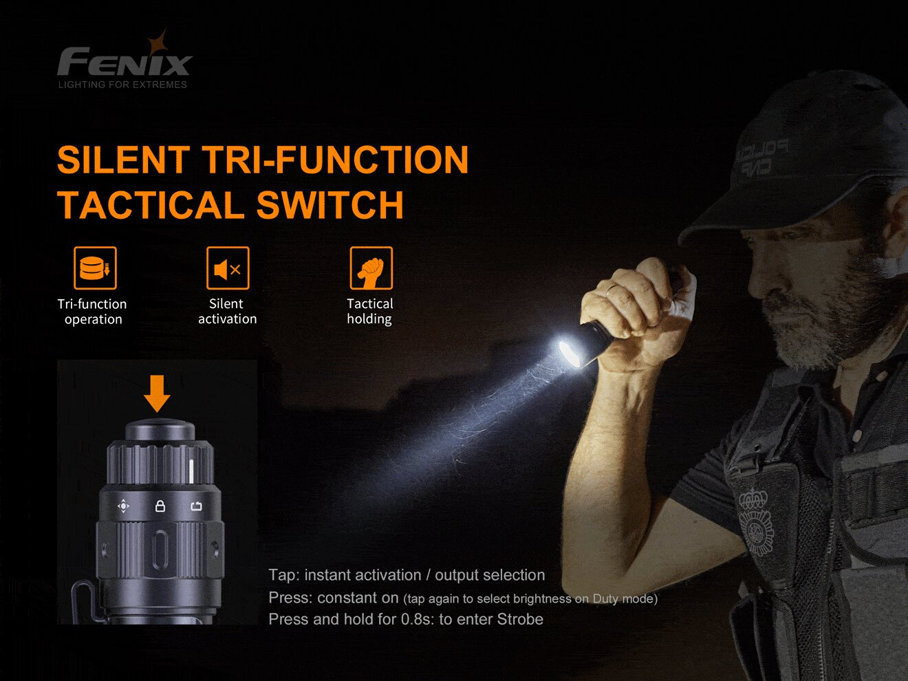 Fenix TK11 TAC LED Torch Light in India, 1600 Lumens Tactical Outdoor Work, Search & Law Enforcement Torch, Tough Rechargeable Flashlight