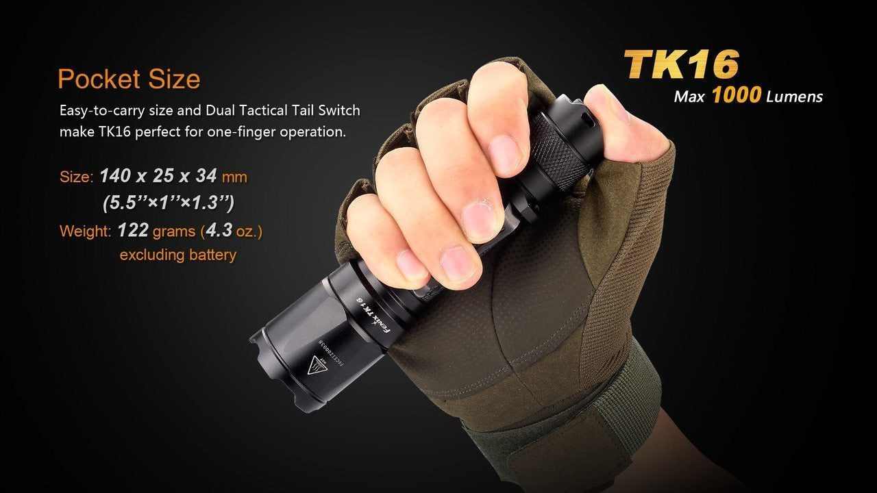 Fenix TK16 1000 Lumens, Tactical Led Flashlight, Compact and Portable Led Torch Light, Fenix TK16 LED Flashlight, 1000 Lumens Tactical LED Torch Light in India, Tough Powerful Light, Pocket size Compact Torch in India