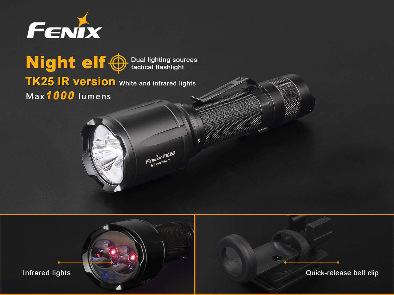 FENIX TK25IR -1000 lumen LED Flashlight, Tactical Flashlight in India