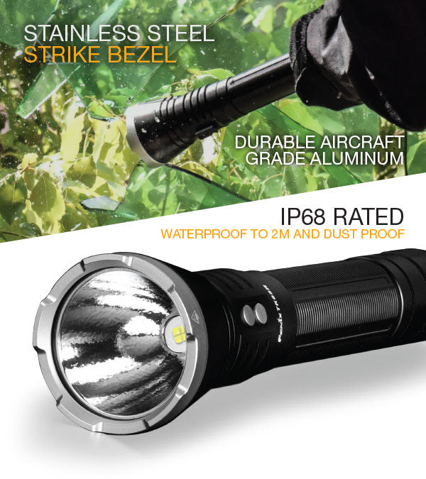 Fenix TK65R LED Searchlight, USB Rechargeable LED Flashlight in India, 3200 Lumens, Torch for security purpose, Law enforcement