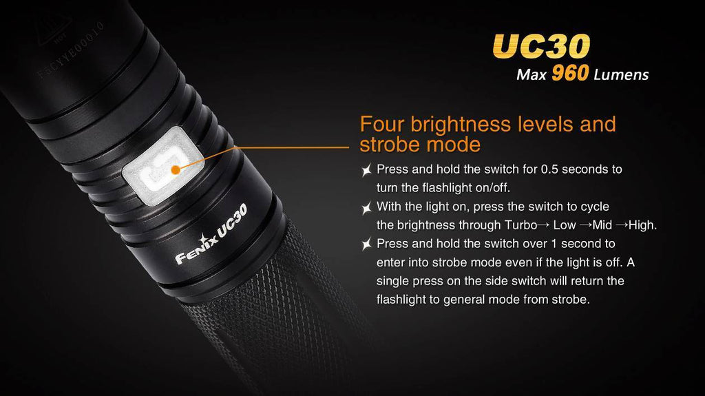 Buy Fenix UC30 LED Flashlight in India, Buy Fenix UC30 LED Compact High Intensity Torch Light in India