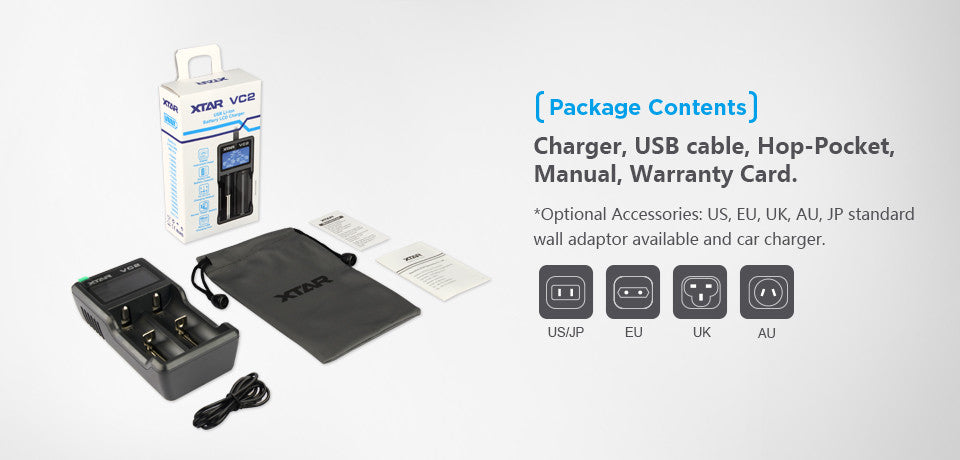 Xtar VC2 USB Charger, LCD Display 18650 Battery India, Now in India