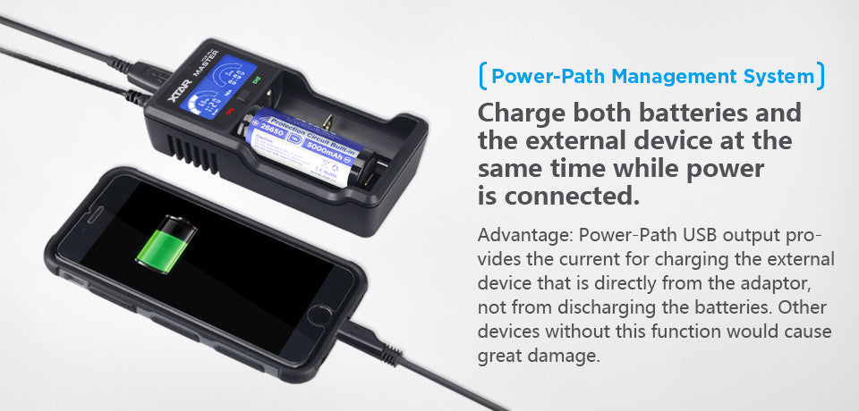 Xtar VC2 Plus Master USB Charger + PowerBank 18650 Charger, Buy in India