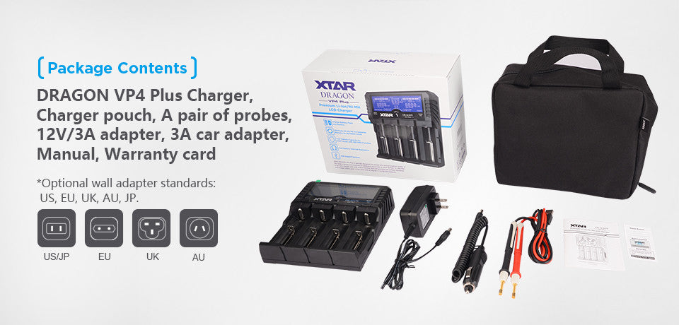 Xtar Dragon VP4 Plus, All-in-One Battery Charger and Tester,Buy Online
