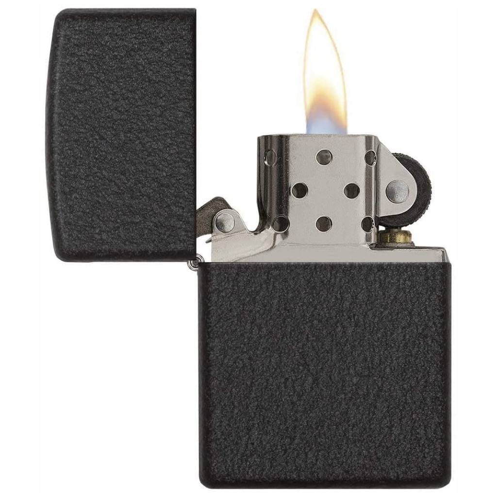 Premium Zippo Classic Black Crackle Lighter in India, Zippo 236 Lighter, Wind Proof Pocket Size Lighters Online, Best Pocket Size Best Lighter in India, Zippo India