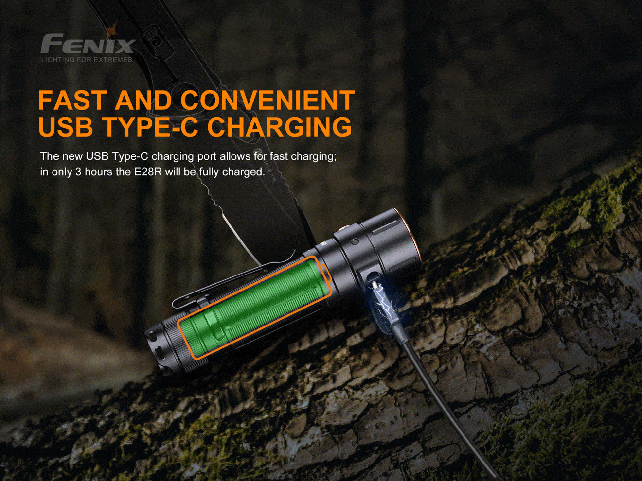 Fenix E28R Rechargeable LED Torch Light in India, Best Compact Outdoor Pocket Size Torch, Everyday Carry 1500 Lumens Flashlight at LightMen