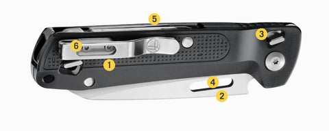 Leatherman FREE Series, Leatherman K2 Pocket Outdoor Knife & Multi Tool, EDC Compact Foldable Knife by Leatherman, 420HC Straight Blade, Pry Tool, Awl, phillips screwdriver, Buy Leatherman Tools Online in India at LightMen