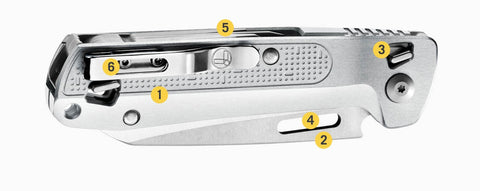 Leatherman FREE Series, Leatherman K4X Pocket Outdoor Knife & Multi Tool, EDC Compact Foldable Knife by Leatherman, 420HC Combo Blade Straight & Serrated Blade, Pry Tool, Awl, phillips screwdriver, Spring-action Scissors, Buy Leatherman Tools Online in India at LightMen
