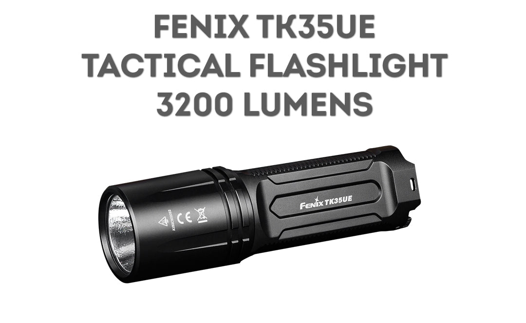 Fenix TK35UE, TK35 Ultimate Edition 2018 Upgrade LED Searchlight, High Performance Long Distance Beam Throw Flashlight, 3200 Lumens, USB Rechargeable