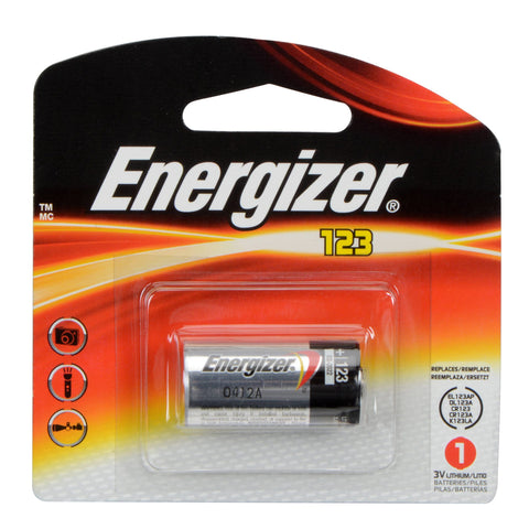 Energizer CR123 / CR123A 3V Lithium Primary Button Top Battery 1500mAh
