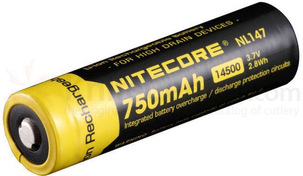 Nitecore 14500 Battery Rechargeable Li-ion Battery NL147