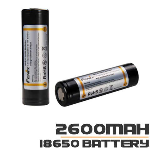 Fenix 18650 Battery 2600mAh 3.7V Rechargeable Li-ion Battery (ARB-L2-2600)