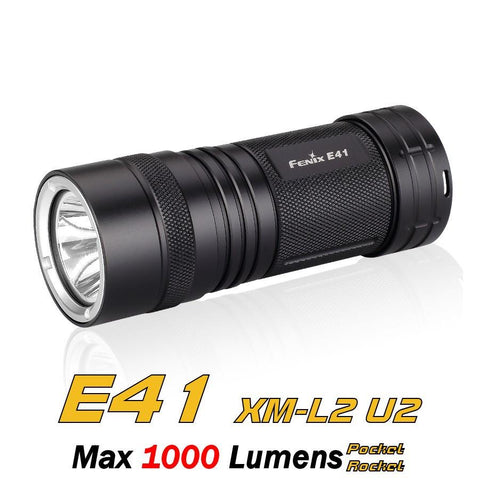 Fenix E41 LED Flashlight - 4*AA Battery LED Torch - 1000 Lumens