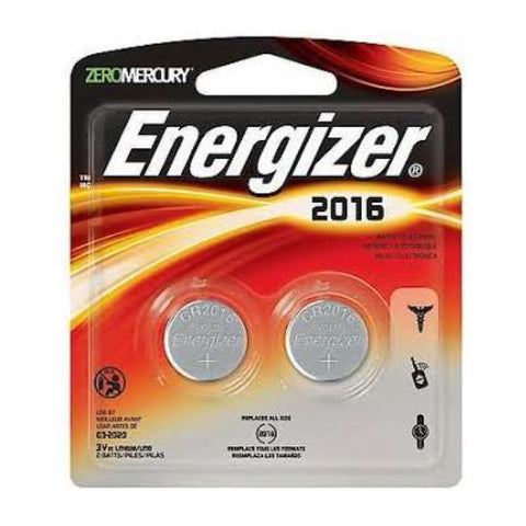 Energizer CR2016 / ECR2016 3V Lithium Primary Coin Cell Batteries