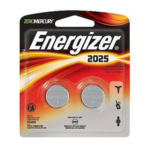 Energizer 2025 / ECR2025 3V Lithium Primary Coin Cell Batteries | 2pc