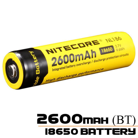 Nitecore 18650 Battery 2600mAh Rechargeable Li-ion Battery NL186