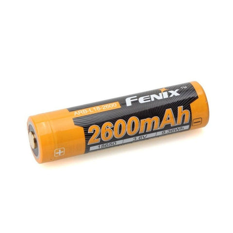 Fenix 18650 ARB-L18-2600mAh Rechargeable Button Top Battery (BIS APPROVED 18650 Battery)