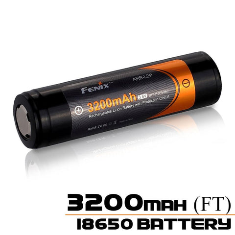 Fenix 18650 Battery ARB-L2-3200mAh FlatTop Battery