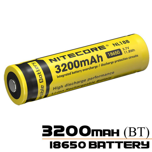Nitecore 18650 Battery NL188 3200mAh Rechargeable Battery