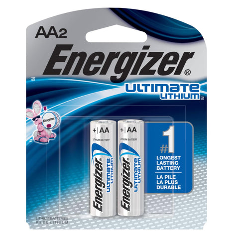 Energizer Ultimate Lithium AA 1.5V Battery | 2pc Pack