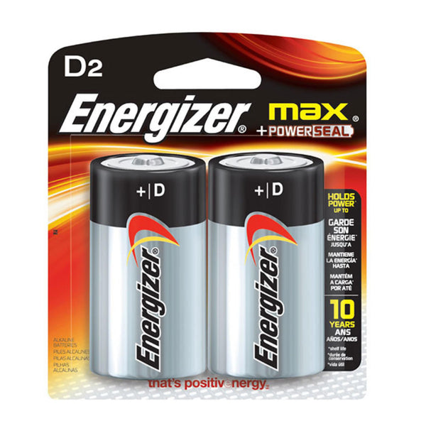 Energizer D Size Alkaline Button Top Battery | 2pc