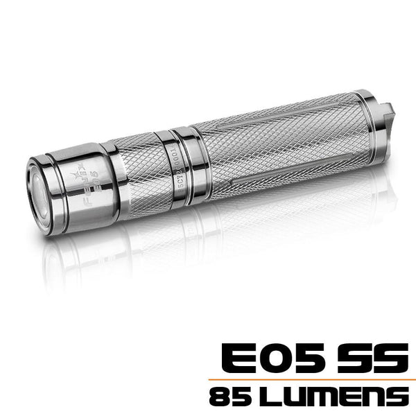 Fenix E05SS LED Flashlight, (1*AAA) Stainless Steel LED Torch