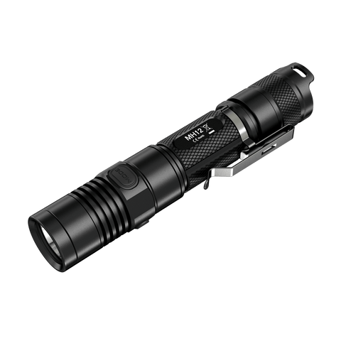 Nitecore MH12 LED Torch Neutral White Color - 1000 Lumens CREE XM-L2 LED - Runs on 2x CR123A or 1x 18650 (Included)