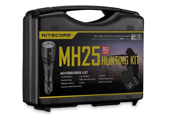 Nitecore MH25 Hunting Kit | COMPLETE SET With CARRY CASE