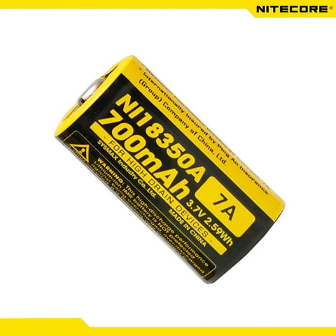 Nitecore IMR18350 700mAh 7A 3.7v Li-Mn High Drain Rechargeable Battery (NI18350A)