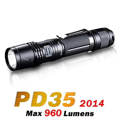Fenix PD35 LED Flashlight India 960 Lumens (2014 Edition) Cree XM-L 2 (U2)