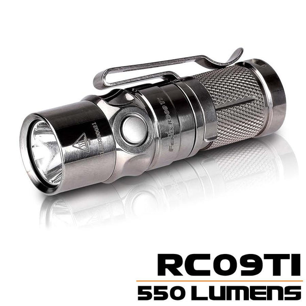Fenix RC09TI TITANIUM FENIX FLASHLIGHT, Limtied Edition LED Torch by Fenix 550 Lumens