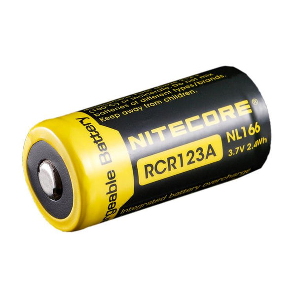 Nitecore RCR123A 650mAh Rechargeable Li-ion Battery (NL166 - 3.7v)