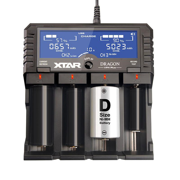 Xtar Dragon VP4 Plus, All-in-One Battery Charger and Tester