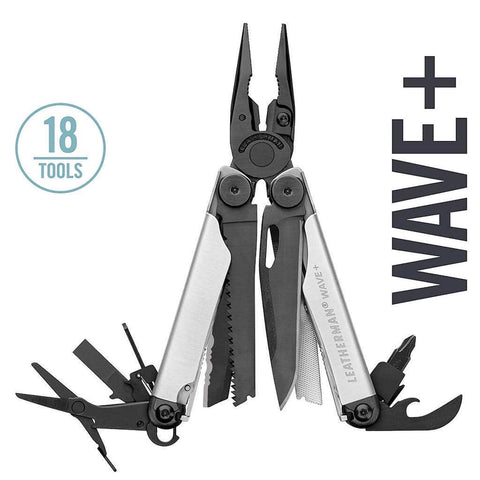 Leatherman Wave Plus Multi-Tool (Black & Silver) | 18 Tools