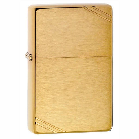 Zippo Replica Brushed Brass Vintage Lighter
