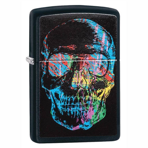 Zippo Colorful Skull Black Matte Lighter