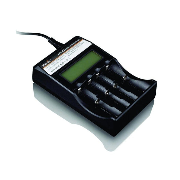 Fenix ARE-C2 Advanced Multi-Charger with LCD (for 18650, 16340,14500, AA, AAA) Charger for almost all batteries.